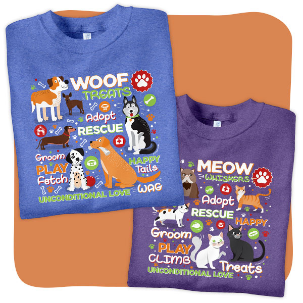 Dog and Cat Pets T-Shirts